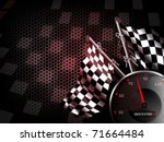speed racing background with... | Shutterstock .eps vector #71664484