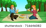 vector illustration of a happy... | Shutterstock .eps vector #716646082