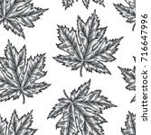 engraving seamless pattern of... | Shutterstock .eps vector #716647996