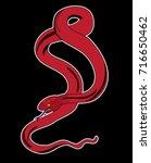 snake cobra tattoo.hand drawn...   Shutterstock .eps vector #716650462