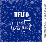 vector hello winter typographic ...   Shutterstock .eps vector #716651962