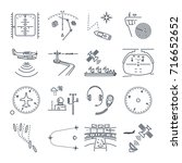 set of thin line icons sea and...   Shutterstock .eps vector #716652652