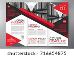 business brochure. flyer design.... | Shutterstock .eps vector #716654875