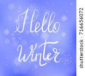 vector hello winter typographic ...   Shutterstock .eps vector #716656072