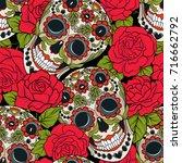 seamless pattern  background... | Shutterstock .eps vector #716662792