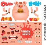 creation kit of cartoon... | Shutterstock .eps vector #716665225