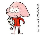 cartoon unsure elephant | Shutterstock .eps vector #716665618