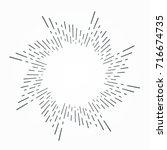 vintage hand drawn sunburst... | Shutterstock .eps vector #716674735