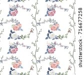 Vector Square Floral Seamless...