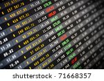 Business company financial balance Stock Quotes at real time at the stock exchange - stock photo