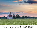 famous st. coloman church in... | Shutterstock . vector #716685166
