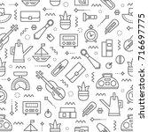 editable dvector seamless... | Shutterstock .eps vector #716697775