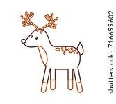 forest deer wildlife animal... | Shutterstock .eps vector #716699602