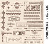decorative menu and invitation... | Shutterstock .eps vector #71670136