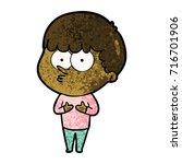 cartoon curious boy   Shutterstock .eps vector #716701906