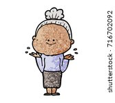 cartoon happy old woman | Shutterstock .eps vector #716702092