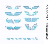 vector set of isolated abstract ... | Shutterstock .eps vector #716703472