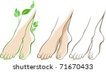 beautiful woman feet | Shutterstock .eps vector #71670433