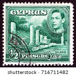 cyprus   circa 1938  a stamp... | Shutterstock . vector #716711482
