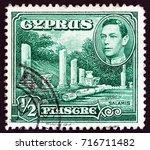 cyprus   circa 1938  a stamp...   Shutterstock . vector #716711482
