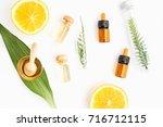 ingredients of skin care... | Shutterstock . vector #716712115
