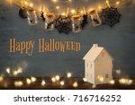 halloween holiday concept....   Shutterstock . vector #716716252