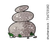 cartoon large stacked stones | Shutterstock .eps vector #716723182