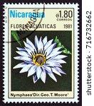 nicaragua   circa 1981  a stamp ... | Shutterstock . vector #716732662