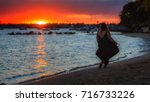 fantastic colors at sunset in... | Shutterstock . vector #716733226