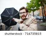 Bearded Man In Eyeglasses And...