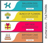 party accessories web banner...   Shutterstock .eps vector #716744086