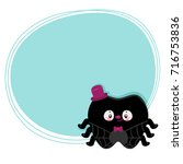 cute tooth  black spider ... | Shutterstock .eps vector #716753836