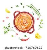 Hummus  Arabic Cuisine Dish ...