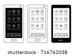 black and white mobile template....