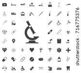 microscope icon black icon on... | Shutterstock .eps vector #716775376