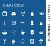 set of 20 editable kitchen...
