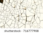 cracked paint on wall texture | Shutterstock . vector #716777908