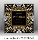 wedding invitation card... | Shutterstock .eps vector #716780362
