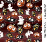 texture of cute characters... | Shutterstock .eps vector #716783002
