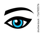 female eye | Shutterstock .eps vector #716785576