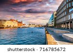 beautiful cityscape  malmo... | Shutterstock . vector #716785672