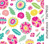 cute seamless pattern - stock vector