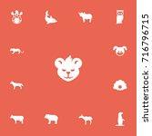 set of 13 editable animal icons....