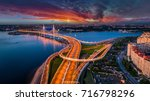 road without cars. highway.... | Shutterstock . vector #716798296
