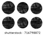 blank circle postal stamps set... | Shutterstock .eps vector #716798872