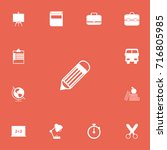 set of 13 editable school icons.... | Shutterstock .eps vector #716805985