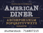script handcrafted vector... | Shutterstock .eps vector #716807215