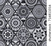 seamless pattern. vintage... | Shutterstock .eps vector #716811016