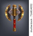 fantasy battle axe weapon for...