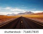 chile atacama desert | Shutterstock . vector #716817835